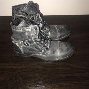 Charcoal Grey Side Zip boot.